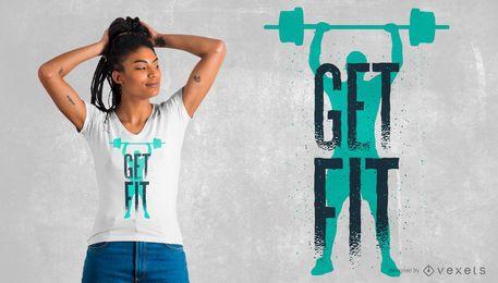 Diseño de camiseta Get Fit