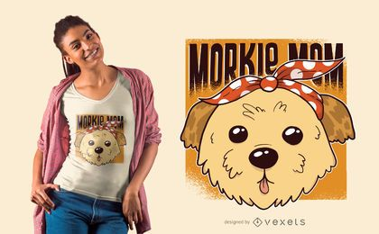 Morkie Mom T-Shirt Design