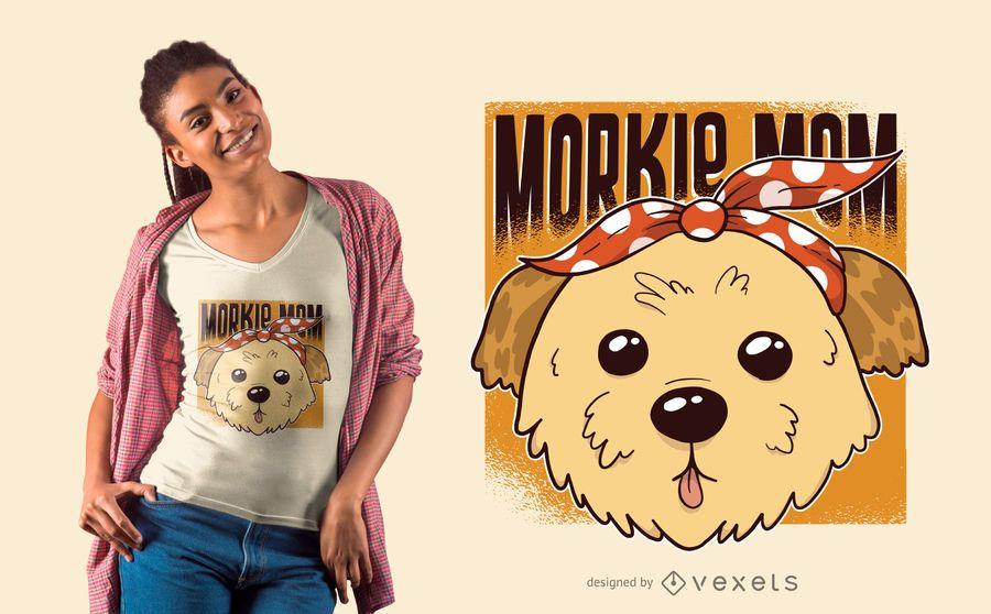 Diseño de camiseta de mamá Morkie