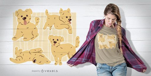 Morkie Poses Design T-Shirt