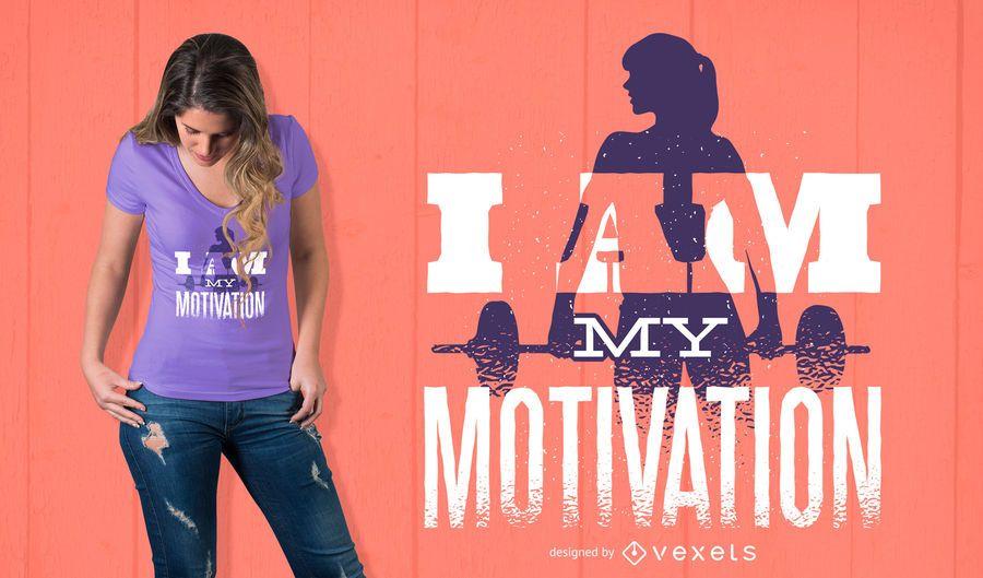 Eu sou meu projeto do t-shirt da motivação