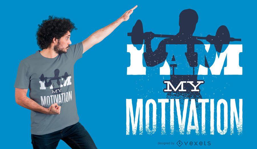 Design de T-shirt de Fitness motivacional