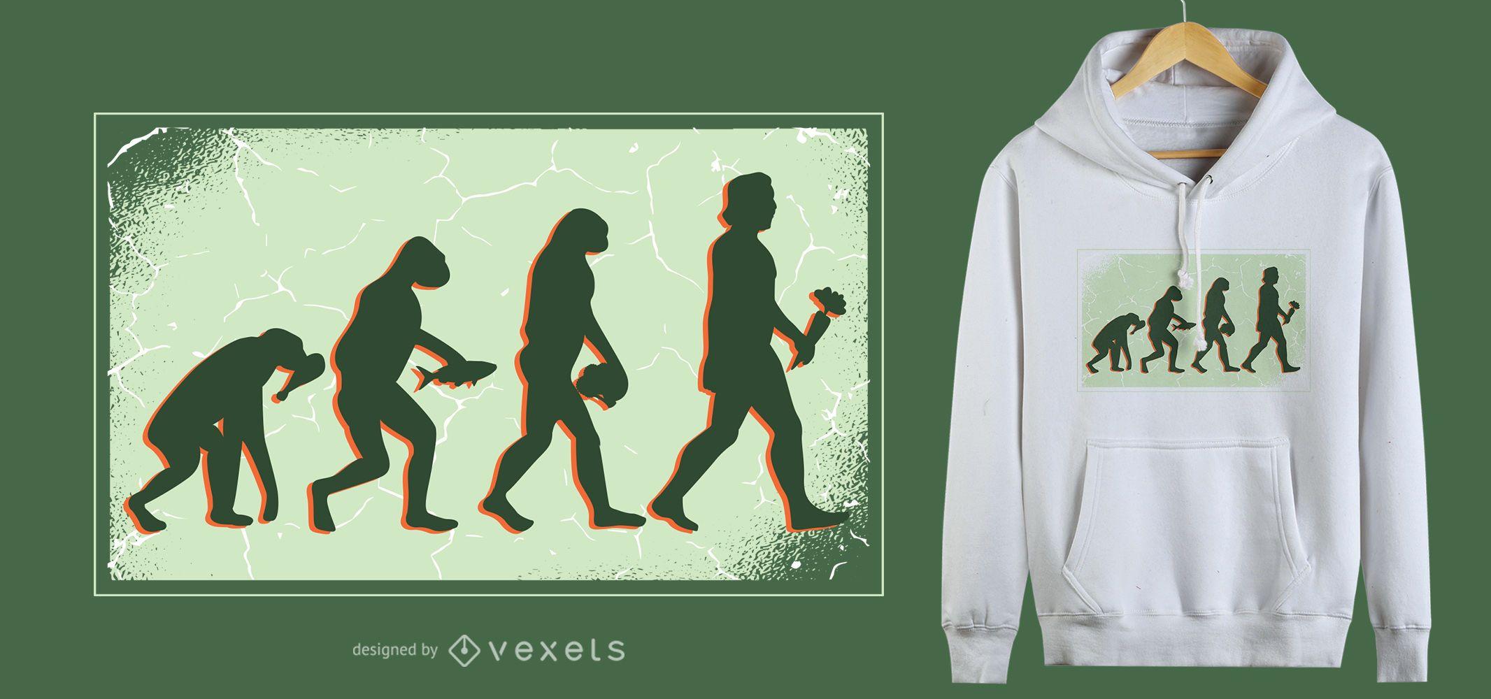 Design de camisetas Vegan Evolution