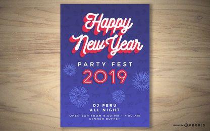 Design de cartaz de festa de ano novo