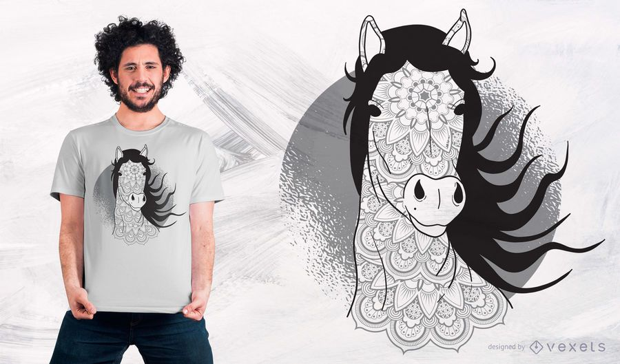 Mandala Horse T-Shirt Design