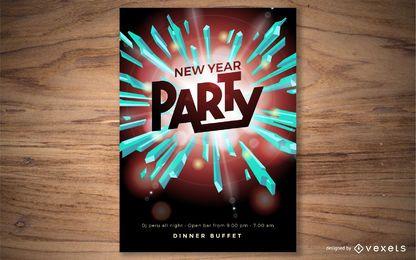 Design de cartaz de ano novo festa