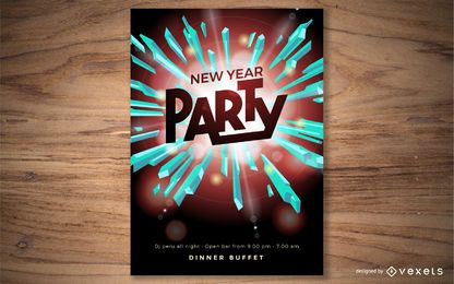 Party New Year Poster Design