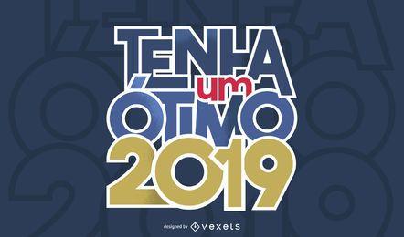 Ano Novo Português Design de saudação