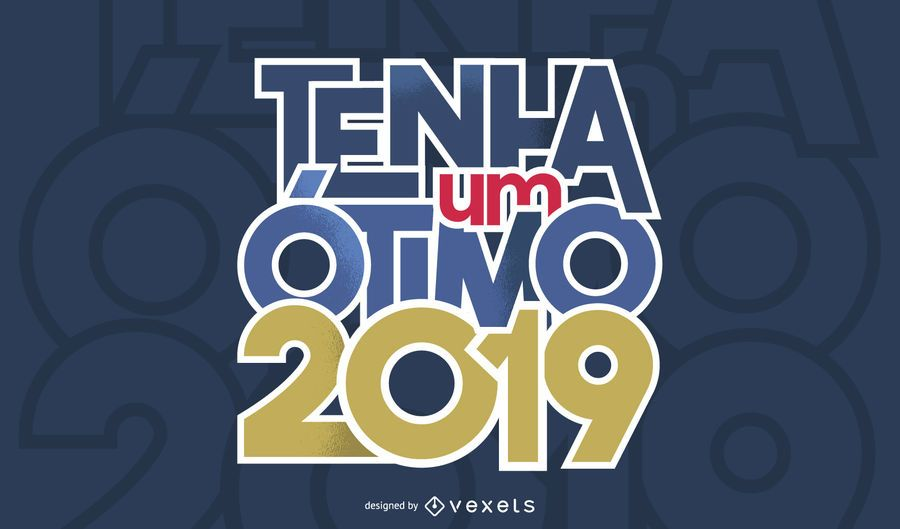 Portuguese New Year Greeting Design
