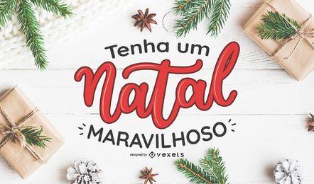 Tenha Um Natal Maravilhoso-Plakatgestaltung