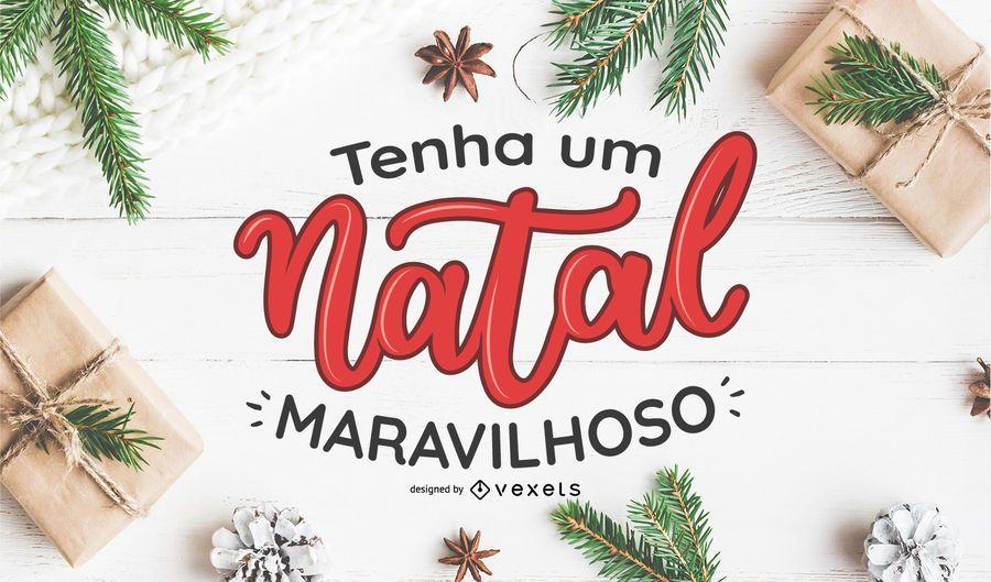 Projeto de Cartaz de Tenha Um Natal Maravilhoso