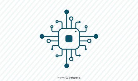 Icono de trazo del procesador