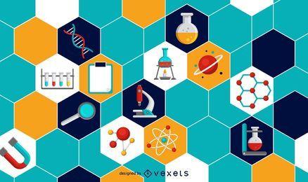 Wissenschaftliche Elemente Hintergrunddesign