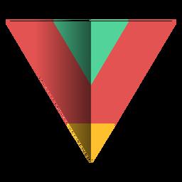 Agudo triángulo plano 3d
