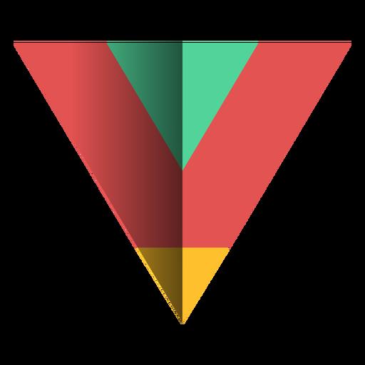Triângulo agudo plano 3d Transparent PNG