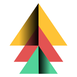 Apex piramide triângulo 3d plana