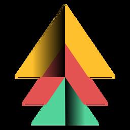Apex piramide triangulo 3d plano