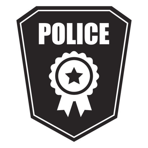 Badge arms silhouette Transparent PNG