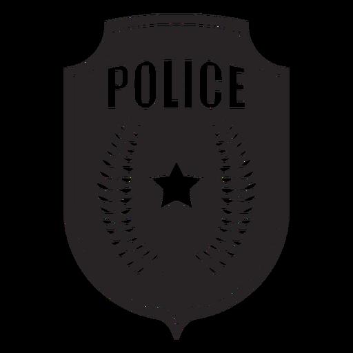 Silhueta de ramo de crachá Transparent PNG