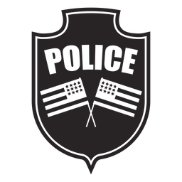 Badge flag silhouette