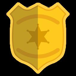 Insignia ilustración policia