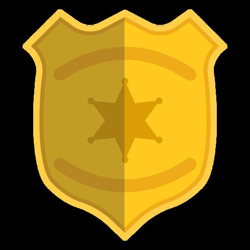Insignia ilustración policia Transparent PNG
