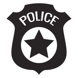 Badge police silhouette