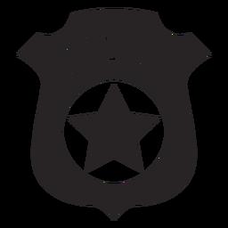 Silueta de la policía de la insignia