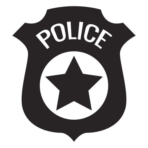 Badge police silhouette Transparent PNG