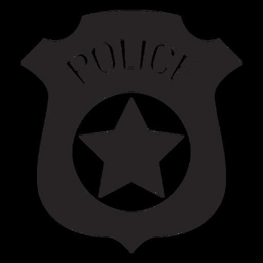 Silueta de la policía de la insignia Transparent PNG