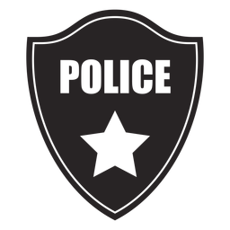 Badge police star silhouette