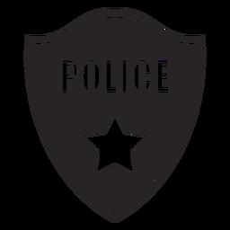 Insignia policía estrella silueta