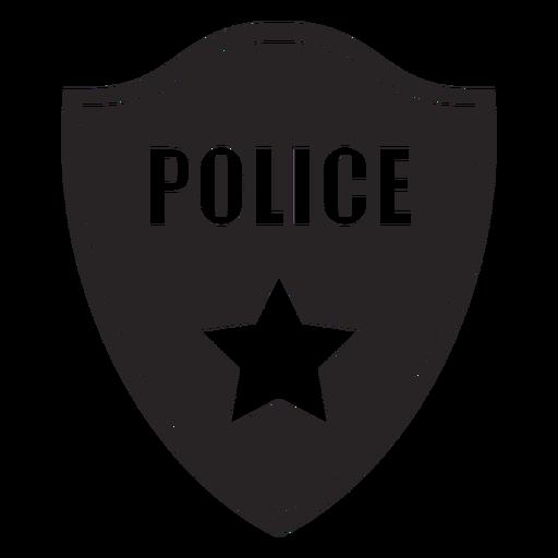 Silhueta de estrela de polícia de distintivo Transparent PNG