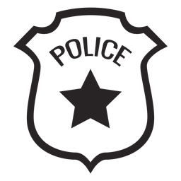 Badge star silhouette