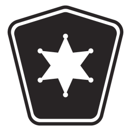 Badge star silhouette police