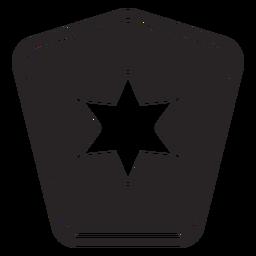 Insignia estrella silueta policia