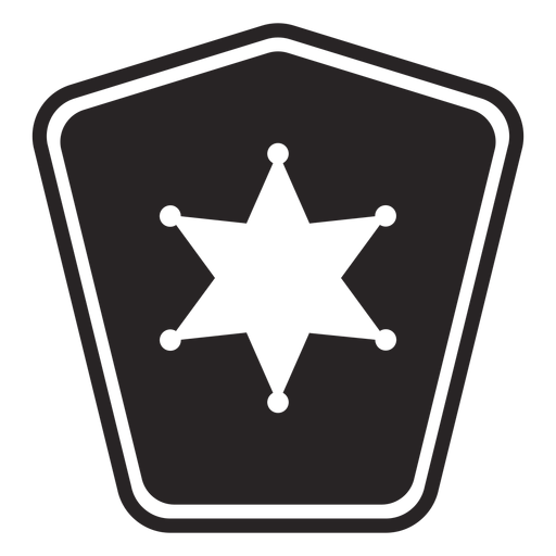 Badge star silhouette police Transparent PNG