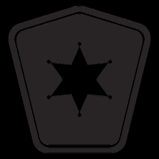 Insignia estrella silueta policia Transparent PNG