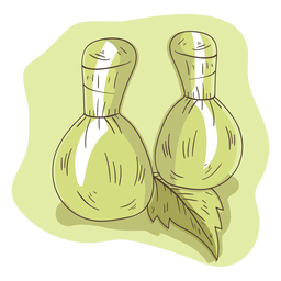 Bag aroma herb leaf illustration