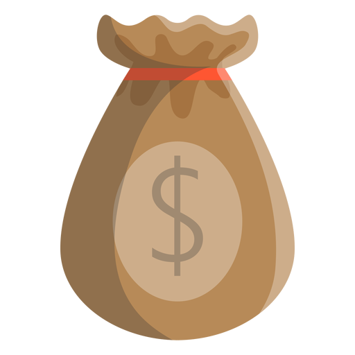 Bag dollar illustration Transparent PNG