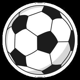 Pelota de fútbol pentágono ilustración