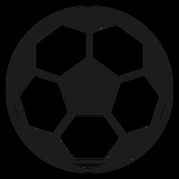 Pelota de fútbol del pentágono silueta