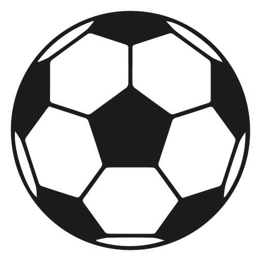Ball football pentagon silhouette Transparent PNG