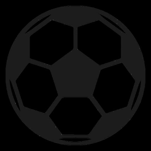 Pelota de futbol pentágono silueta