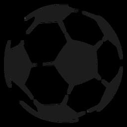 Ball-Fußball-Pentagon-Skizze
