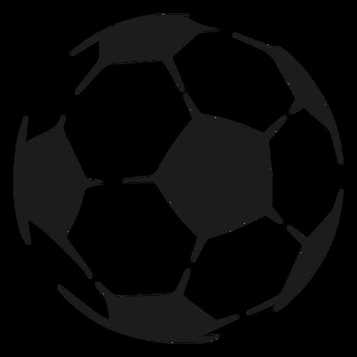 Ball soccer pentagon sketch