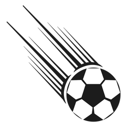 Silhueta de tiro de bola de futebol