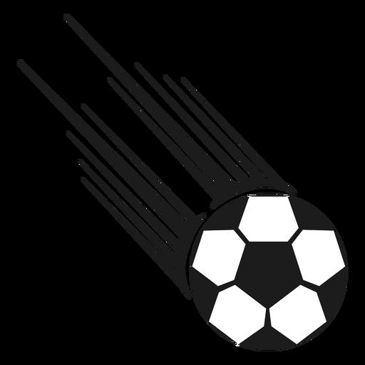Ball football shot silhouette Transparent PNG