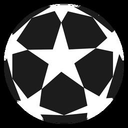 Pelota de fútbol estrella silueta