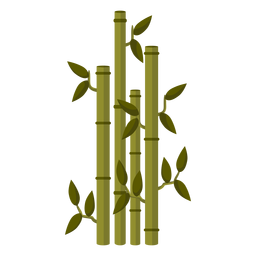 Ilustración de tallo de bambú